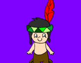 Desenho Pequeno índio pintado por gui
