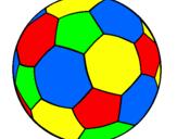 Desenho Bola de futebol II pintado por bola