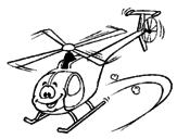 Desenho Helicóptero pintado por Pablo