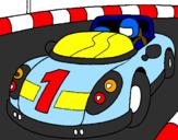 Desenho Carro de corridas pintado por Jorge