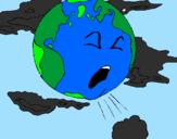 Desenho Terra doente pintado por thais