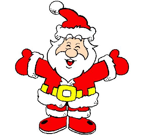 Desenho De Pai Natal Feliz Pintado E Colorido Por Usuário