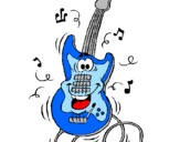 Desenho Guitarra pintado por kamilla - guitarra