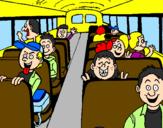Desenho Autocarro escolar pintado por Meninos de Verdes ;)