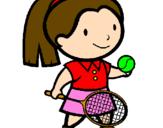 Desenho Rapariga tenista pintado por Isabela