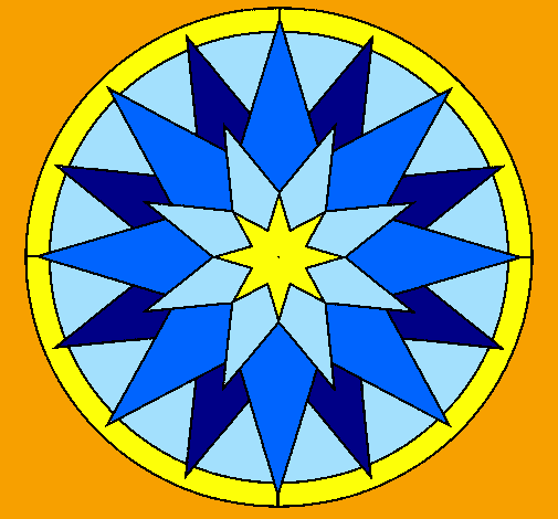 Desenho Mandala 28 pintado por Vitral