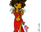 Desenho Fada II pintado por barbielinda