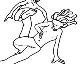 Desenho Dança pintado por Capoeira