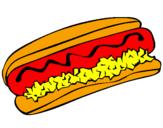 Desenho Cachorro quente pintado por Loll