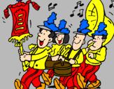 Desenho Banda de música pintado por kauana