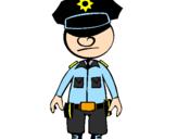Desenho Agente de polícia pintado por danny_boy