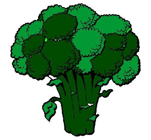 desenho de brócolos pintado e colorido por usuário não registrado o