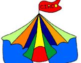 Desenho Circo pintado por sasa