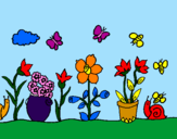 Desenho Jardim pintado por larissa vicalvi rocha