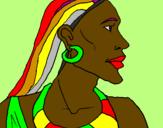 Desenho Moçambicano pintado por BINTOU