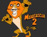 Desenho Madagascar 2 Alex pintado por meu leão