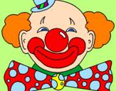 Desenho Palhaço com um grande sorriso pintado por palhaço pirulito