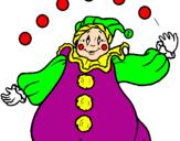Desenho Palhaço com bolas pintado por palhaço
