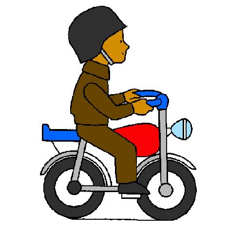 Desenho Moto pintado por Shurek
