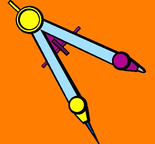 desenho de material escolar pintado e colorido por