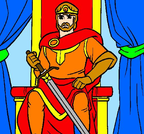 Desenho Cavaleiro rei pintado por rei arthur