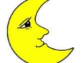 Desenho Lua pintado por lua