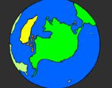 Desenho Planeta terra pintado por thainá´zinha gatona huiii