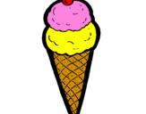 Desenho Cone de gelado pintado por sorvete