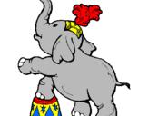 Desenho Elefante pintado por Aliny