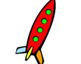 Desenho Foguete II pintado por isaac