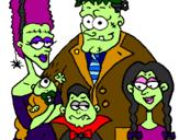 Desenho Família de monstros pintado por Baba