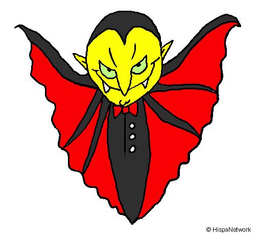 Desenho Vampiro aterrorizador pintado por artistico
