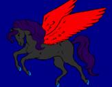Desenho Pégaso a voar  pintado por jade
