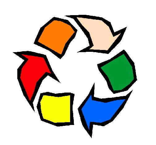 desenho de reciclar pintado e colorido por usuário não registrado o