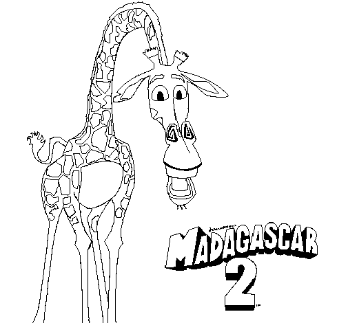 Desenho Madagascar 2 Melman pintado por 3