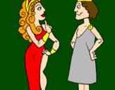 Desenho Gregos pintado por jéssica