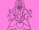 Desenho Princesa feia pintado por yexly