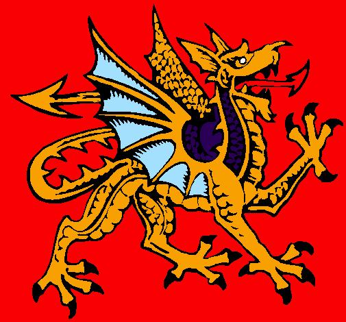 Desenho Dragão agressivo pintado por thiago