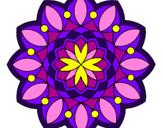 Desenho Mandala 20 pintado por Vitral