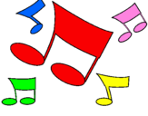 Desenho Notas musicais pintado por xpto