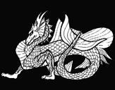 Desenho Dragão de mar pintado por dragao