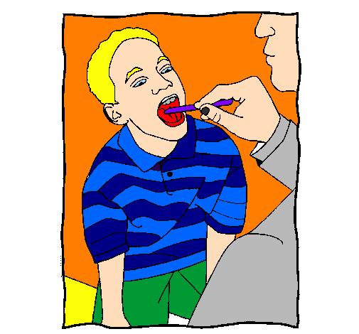 Exame de garganta