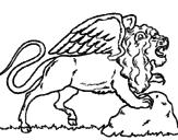 Desenho Leão alado pintado por  5 765i90 7p78o97 `t54045