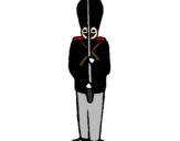 Desenho Soldado de chumbo pintado por bb