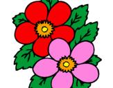 Desenho Flores pintado por Flores