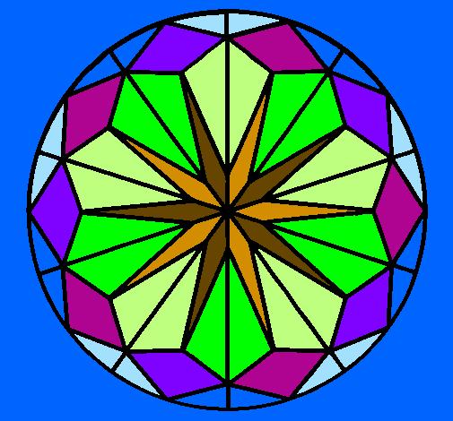 Desenho de Mandala 41 pintado e colorido por Usuário não