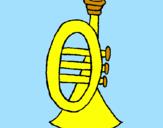 Desenho Trompeta pintado por emanuella martins couto