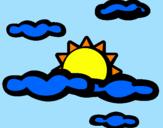 Desenho Nublado pintado por gabinha