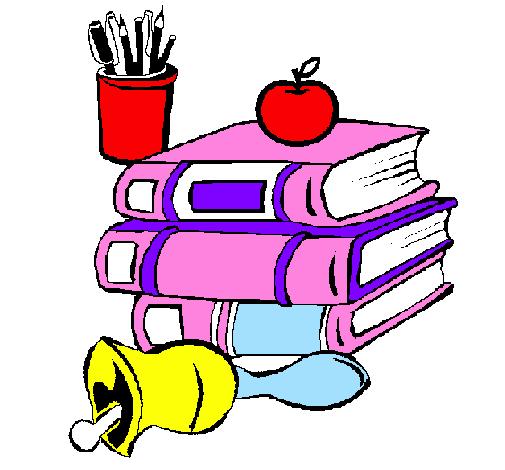 Desenho De Material Escolar Pintado E Colorido Por Usuario Nao