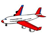Desenho Avião de passageiros pintado por Avião